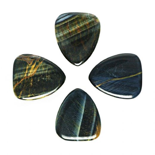 Tiger Tones Blue Tiger Eye 4 Guitar Picks